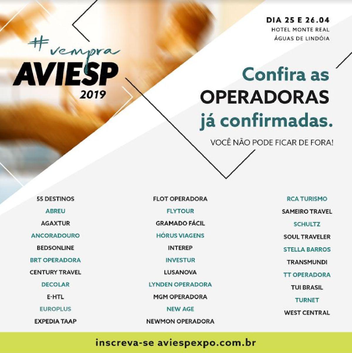 AVIESP 2019: 32 operadoras já confirmaram estandes.