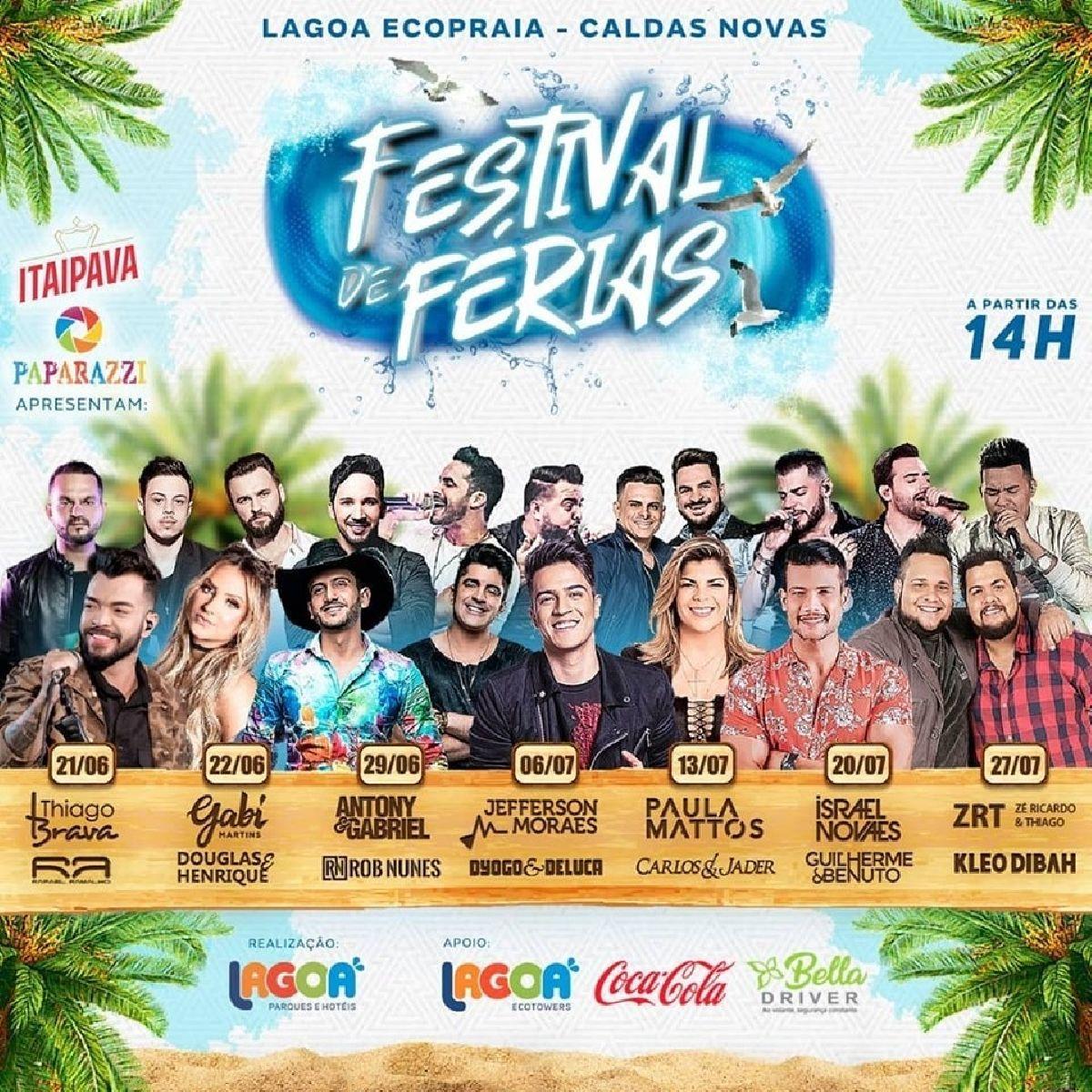 BELLA DRIVER APOIA FESTIVAL DE FÉRIAS, MAIOR EVENTO MUSICAL DE CALDAS NOVAS