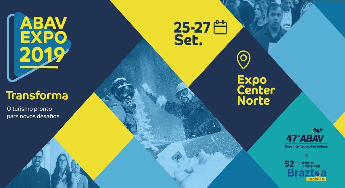 ABAV EXPO 2019 MOSTRA FORÇA E VARIEDADE DO SETOR DE TURISMO COM EXPOSITORES JÁ CONFIRMADOS