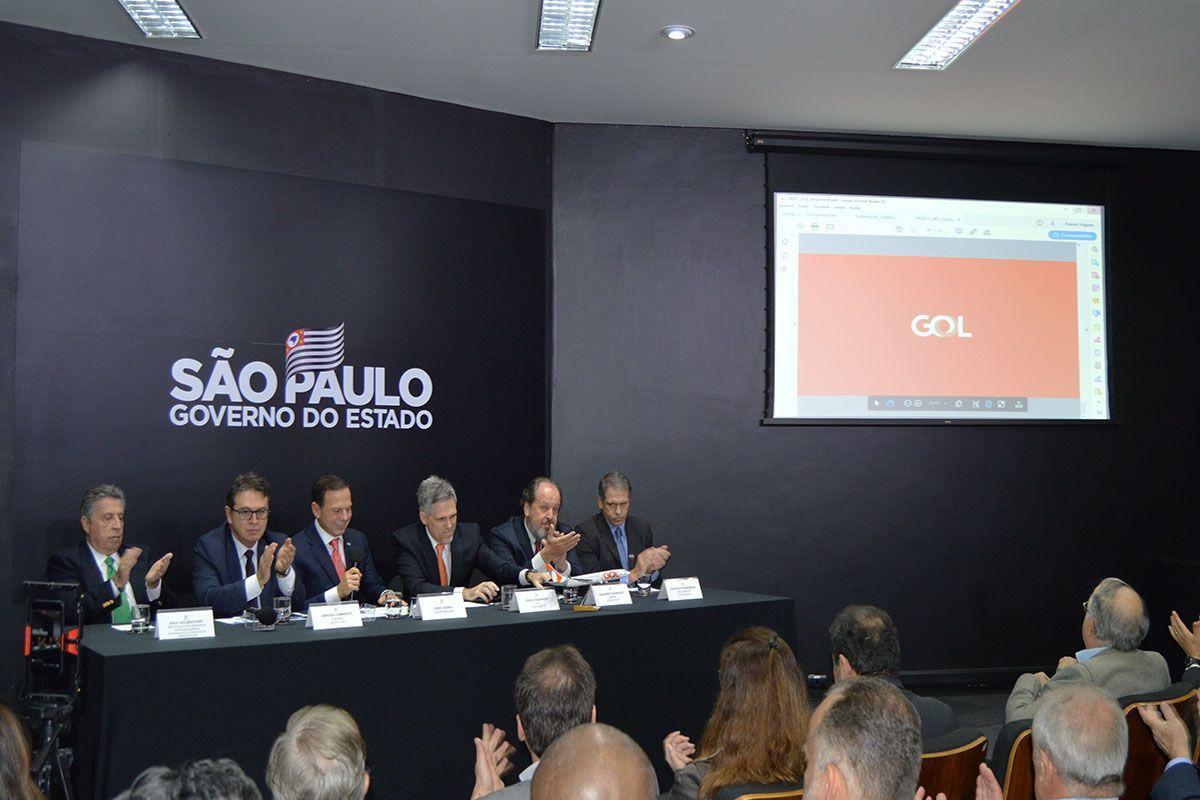 GOVERNO DE SP ANUNCIA SERVIÇO DE STOPOVER DA GOL LINHAS AÉREAS NOS AEROPORTOS PAULISTAS.