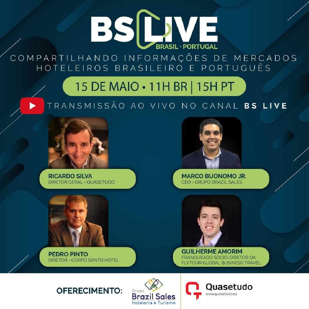 A QUASETUDO E O GRUPO BRAZIL SALES FAZEM UM WEBINAR CONJUNTO  FOCADO NO IMPACTO DO COVID-19 NA HOTELARIA NO MERCADO PORTUGUÊS E BRASILEIRO