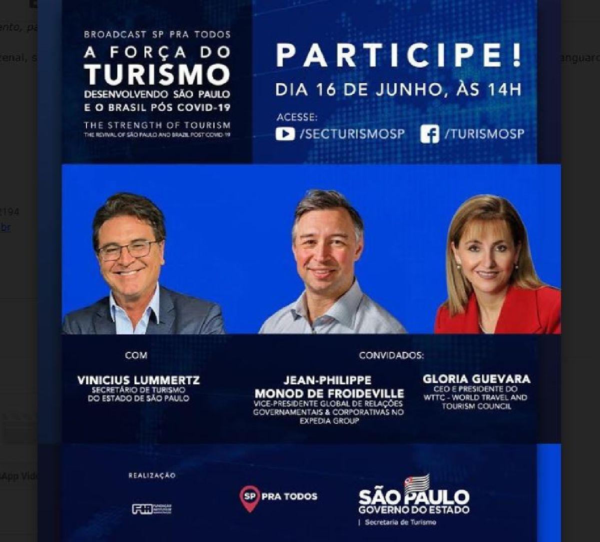 SECRETARIA ESTADUAL DE TURISMO REALIZA SEGUNDA RODADA DO BROADCAST SÃO PAULO PRA TODOS
