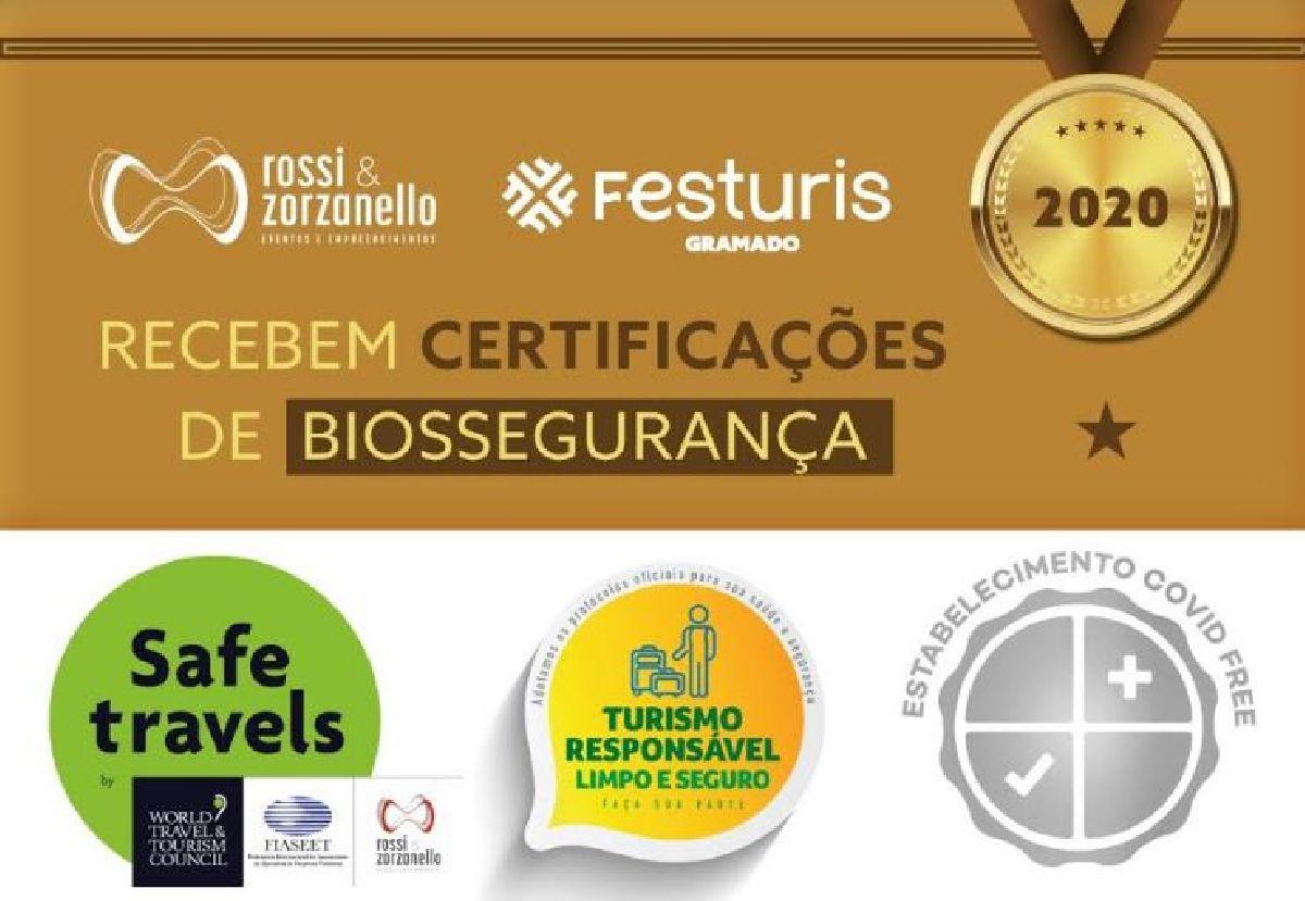 ROSSI & ZORZANELLO E FESTURIS GRAMADO RECEBEM CERTIFICAÇÕES INTERNACIONAIS DE BIOSSEGURANÇA