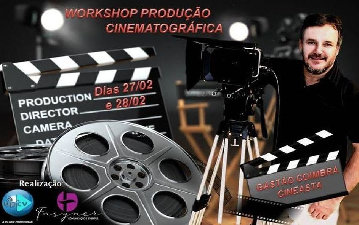 O CINEASTA GASTÃO COIMBRA MINISTRA WORKSHOP DE PRODUÇÃO CINEMATÓGRAFICA NA REGIÃO DO ABC EM SÃO PAULO