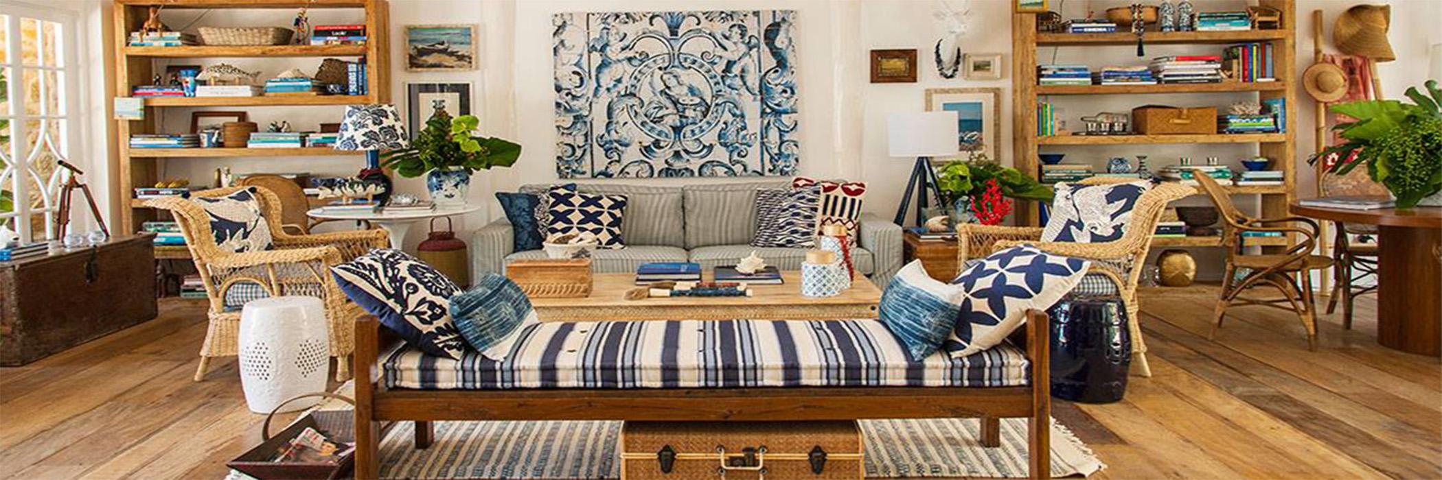 TW GUAIMBÊ EXCLUSIVE SUITES HOTEL = sofá de madeira azul e branco