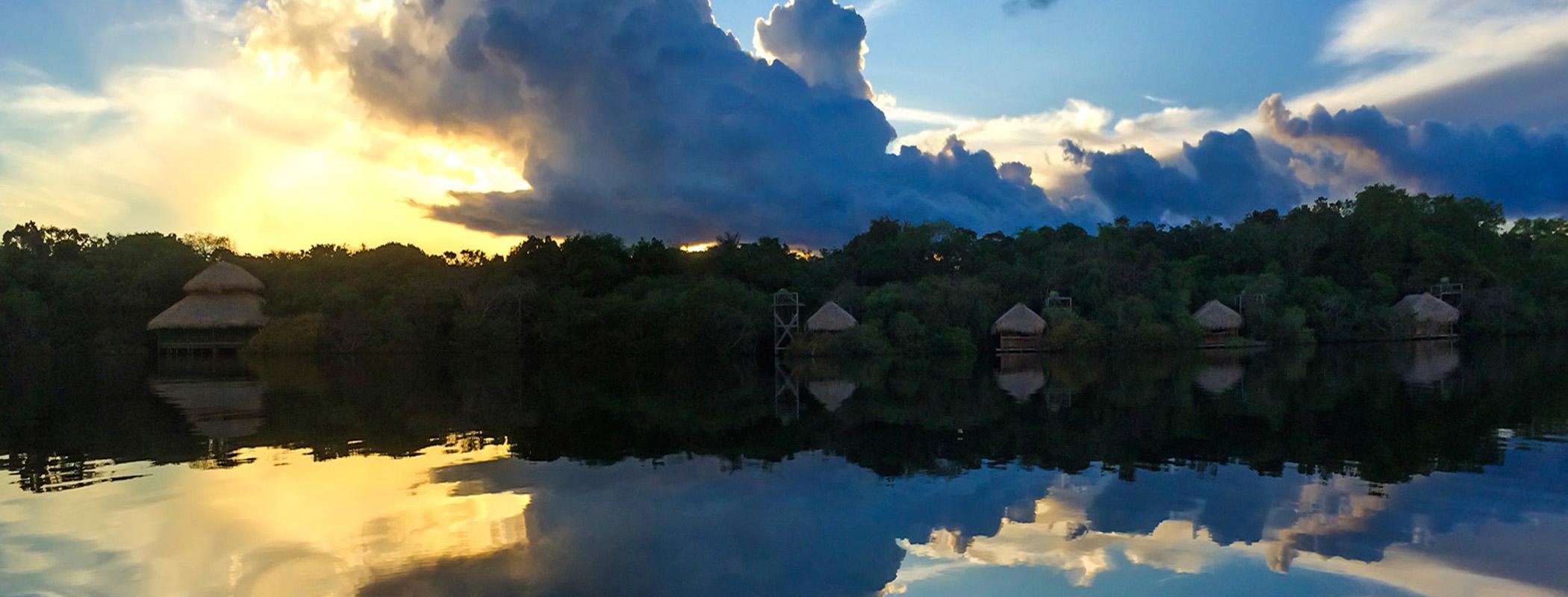 aAs belezas da estação de cheia na Amazônia brasileira