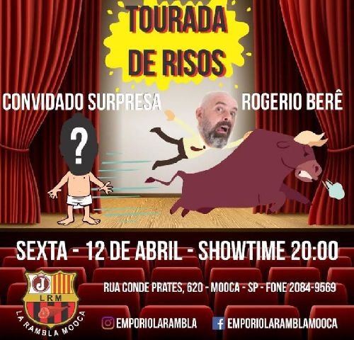 BAR LA RAMBLA RECEBE STAND-UP NO DIA 12 DE ABRIL