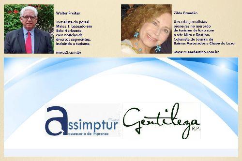 HOMENAGEM AOS JORNALISTAS DE TURISMO /  ASSIMPTUR ASSESSORIA DE IMPRENSA E A GENTILEZA RP