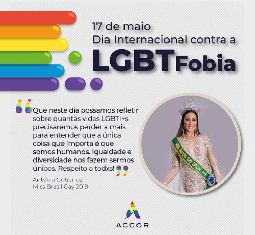 ACCOR CELEBRA A DIVERSIDADE E REAFIRMA APOIO AO COMBATE À LGBTFOBIA NO BRASIL