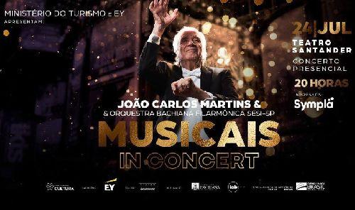 O RENOMADO MAESTRO JOÃO CARLOS MARTINS SE APRESENTA NO TEATRO SANTANDER EM UMA GRANDE VIAGEM PELO UNIVERSO DOS MUSICAIS QUE FIZERAM HISTÓRIA NA BROADWAY E NO BRASIL