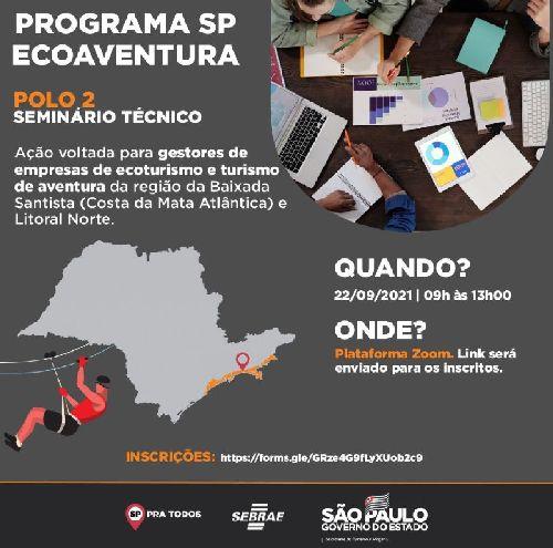 CIRCUITO LITORAL NORTE DE SÃO PAULO PARTICIPA DO SEMINÁRIO TÉCNICO DO PROGRAMA SP ECOAVENTURA